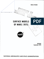 NASA - Sp8020 - Space Vehicle Design Criteria - Surface Model of Mars 1975