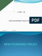 New Economic Policy of India
