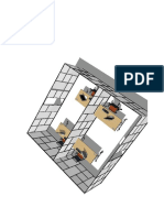 3D Model View of office partitioning