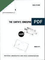 NASA - Sp8049 - Space Vehicle Design Criteria - The Earth's Ionosphere