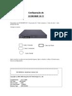 Procedimento de Configuração 3COM MSR 20-11