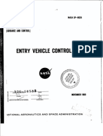 NASA - Sp8028 - Space Vehicle Design Criteria - Entry Vehicle Control