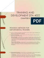 Chapter 5 Training and Development Dta 4022