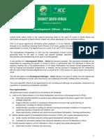 Job Advert Development Officer Africa