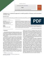 Validación de un enfoque numerico para modelar la pirolisis de la biomasa y evaluación de datos cineticos