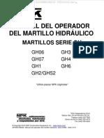 Manual Operador Martillo Hidraulico