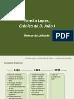 Síntese Unidade Crónica D. João I (1)