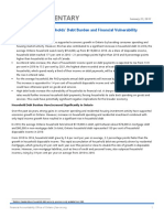 FAO Commentary on Ontario Households' Debt