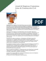 Registro Nacional de Empresas Contratistas y Subcontratistas de Construcción Civil