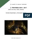 Memoria de las campañas de exploración espeleológica H.aedu'l Traviesu 2016-2017 (Sierra del Cuera, Llanes, Asturies).