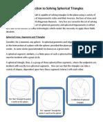 Solving Spherical Trianglesssss