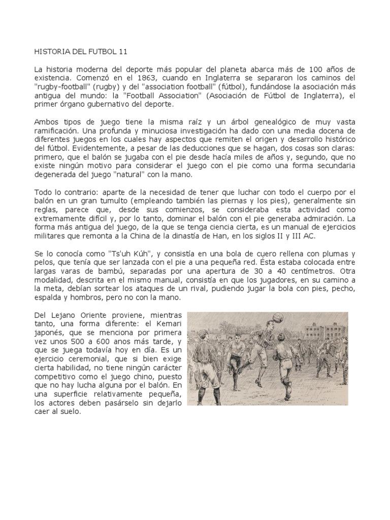 Historia Del Futbol 11