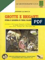 Grotte e Briganti - Antonio La Rocca - Storia e leggenda di Terra Calabra e Lucana