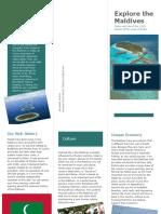 maldives brochure