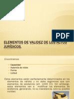 Elementos de Validez de Los Actos Juridicos