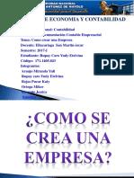 Documentacion C. Empresarial Como Crear Una Empresa Yudy Rupay Caro
