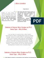 Seismic Micro Zonation Aap Phd