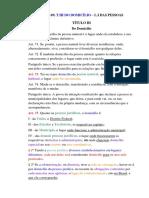 (Cc, Art. 40 a 69) t.iii Do Domicílio – l.i Das Pessoas