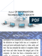 Role of Information Technology in Society