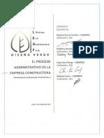 Proceso administrativo de una empresa constructora