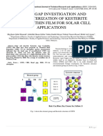 ENERGY GAP INVESTIGATION AND CHARACTERIZATION OF KESTERITE CU2ZNSNS4 THIN FILM FOR SOLAR CELL APPLICATIONS