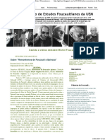 GEF - Grupo de Estudos Foucaultianos Da UEM_ Sobre _Remontemos de Foucault a Spinoza