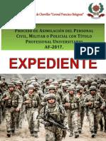 EXPEDIENTE ASIMILACIÓN 2017