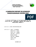 A Narrative Report on Student