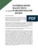 Materialismo dialéctico y paradigmas en Kuhn