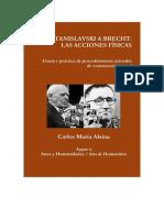 De Stanislavski a Brecht Las Acciones Fisicas