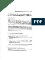 Deuda o Capital. La Decision Sobre La Estructura Financiera de La Empresa (1)