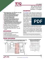 LTC4020 - 55V Buck-Boost Multi-Chemistry Battery Charger