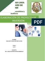 Trabajo Autonomo Proyecto de Inversion