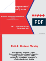 Unit 4 - Decision Making