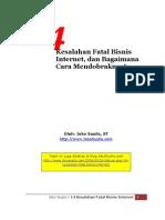 14 Kesalahan Fatal Bisnis Internet