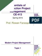 01 Topic 01 - PM Framework