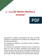 3 Tasa de Interés Efectiva y Nominal