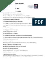 HMS Victory Chronology