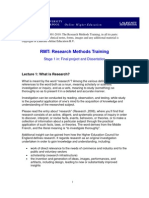 RMT 1 What is Research