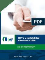 NIFs y Contabilidad Electronica 2016
