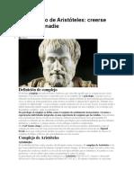 El Complejo de Aristóteles