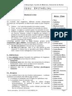 Polycopié Histologie Médecine Béchar 1ère