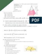 Ficha de Avaliação de Matemática 9º Ano 3º Teste