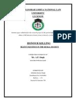 Seminar Paper- Law and Society