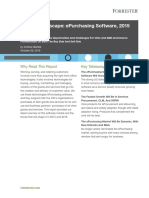 Forrester Vendor Landscape E-purchasing Software 2015 2016