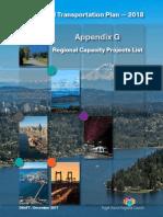 Appendix G - Regional Capacity Project List