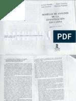 BUENDIA Et Al. Modelos de Análisis de La Investigación Educativa