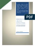 Memoria de Calculo Vivienda Mariscal Castilla