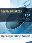 Montgomery County, MD FY19 Operating Budget Forum Briefing