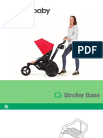 O2 Stroller Base Illustrated Folder Text Booklet Warranty